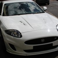 Jaguar XKR -- 5.0 SUPERCHARGED V8 COUPE Dynamic Speed Pack + Black Package  27,895 Miles
